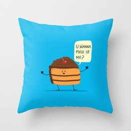 Trouble Baker Throw Pillow