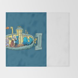 The Submarine of Dr. Khozan Throw Blanket