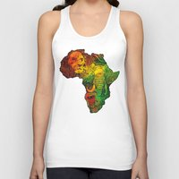 africa Tank Tops featuring Africa by RicoMambo