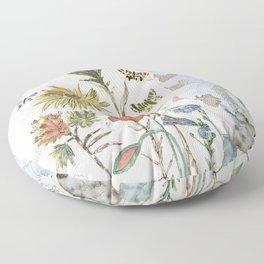 Salvador Dali - Fleurs et papillons Floor Pillow