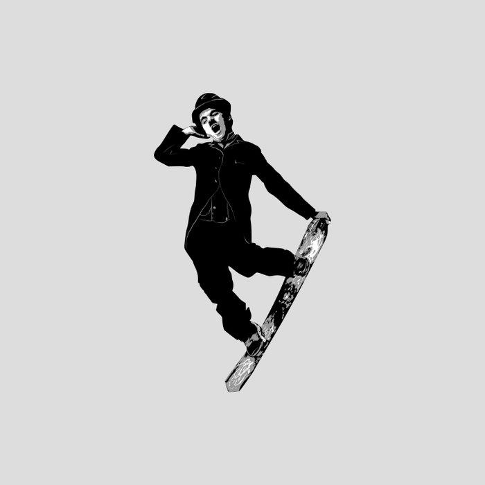 Gnarly Chaplin Duvet Cover