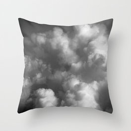 Clouds 01 B&W Throw Pillow