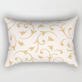 Baroque Design – Gold on Cream Rectangular Pillow