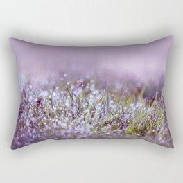 Morning dew on grass Rectangular Pillow