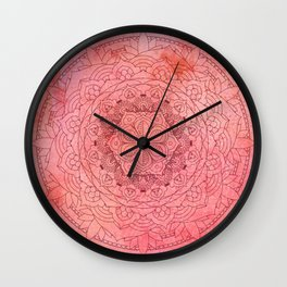 Raspberry Mandala Zen Decor Wall Clock