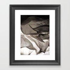 Monochromatic Shapes Framed Art Print