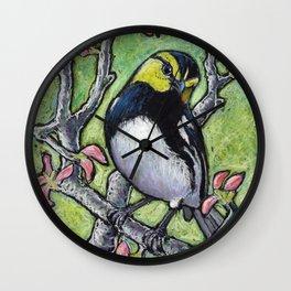 Golden Cheeked Warbler Wall Clock
