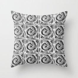 Handmade paper swirl pattern Throw Pillow
