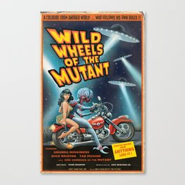 Wild Wheels of the Mutant Canvas Print