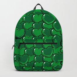 Green Love Hearts Backpack