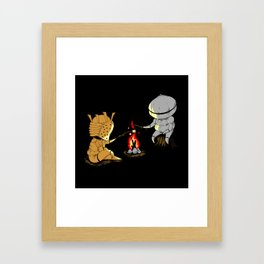 Bonfire Buddies Framed Art Print