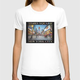 Times Square Sparkle (with type on black) T-shirt