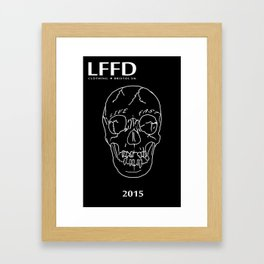 LFFD 2015 SKULL - LAUNCH EDTN Framed Art Print