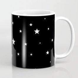 Scattered Stars - white on black Coffee Mug