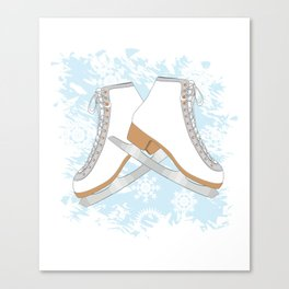 Ice skates Canvas Print