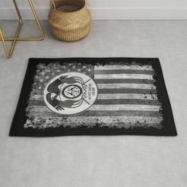 Faith Hope Liberty & Freedom Eagle on US flag Rug