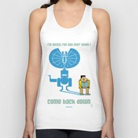 jurassic park Tank Tops featuring JURASSIC PARK : Nerdy Nedry by SimonCARUSO.com