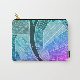 Budapest Map (Colour Gradient) Carry-All Pouch