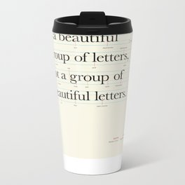 Typography Anatomy Metal Travel Mug