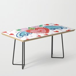 Valentine Heart with Wings Coffee Table