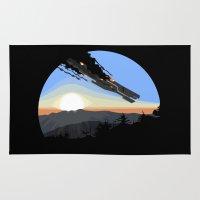 interstellar Area & Throw Rugs featuring Interstellar Tragedy by Iwanttobeanartist