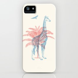 Giraffe - Where they Belong iPhone Case