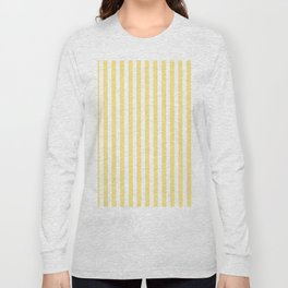 Modern geometrical baby yellow white stripes pattern Long Sleeve T-shirt