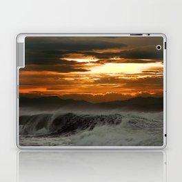 Winter Shorebreak at Sunset Laptop & iPad Skin