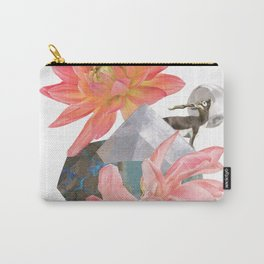 Gazelle and Flowers Carry-All Pouch