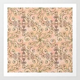Project 315 | Zentangles & Stars on Creme Brule Art Print
