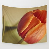 tulip Wall Tapestries featuring Tulip by Lawson Images