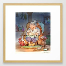 Mamie Dragon - Healing Framed Art Print