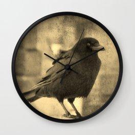 Antique Crow Wall Clock