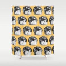 Minifigure Pattern – Yellow Shower Curtain