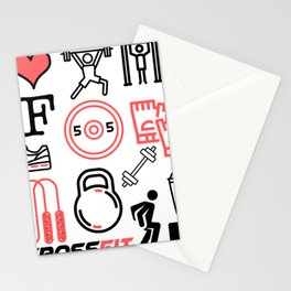 Love Crossfit Stationery Cards