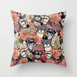 Because Schnauzers Throw Pillow