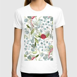 Eucalyptus Kangaroo paw watercolor floral design T-shirt