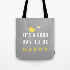 Happy Poster - grey Tote Bag