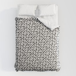 Control Your Game - Black on White Comforters