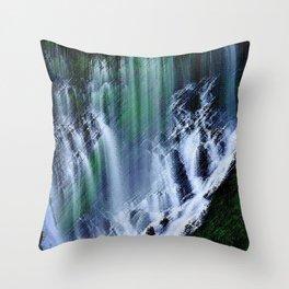 McArthur-Burney Waterfall Landscape Throw Pillow