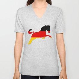 German Flag - Horse Unisex V-Neck