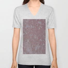 Icy pink surface, abstract image Unisex V-Neck