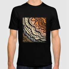 From copper to bronze tangled Black MEDIUM Mens Fitted Tee