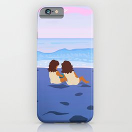 Girls on the Black Sand iPhone Case