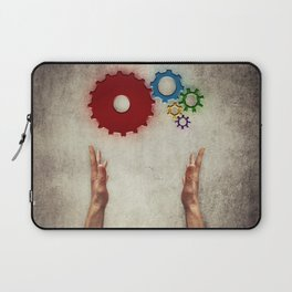hand holding cogs Laptop Sleeve