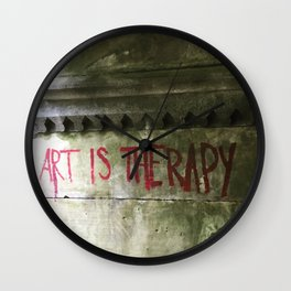 Art is Therapy  Wall Clock