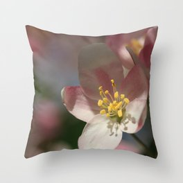 Apple Tree Blossoms 1 Throw Pillow