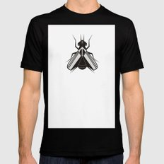 The fly Black Mens Fitted Tee MEDIUM