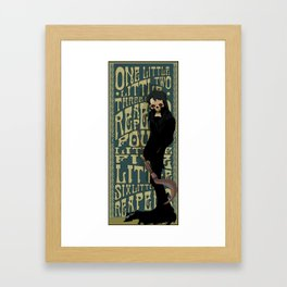 One Little Two Little Three Little Reapers... Framed Art Print