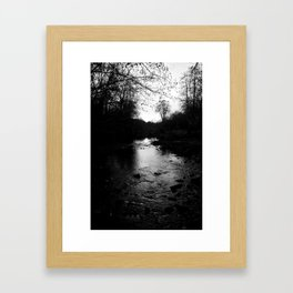 Black And White River - Penn Valley, CA Framed Art Print